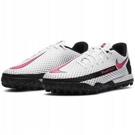 Buty piłkarskie Nike Jr Phantom Gt Academy Tf CK8484 160 białe białe 3