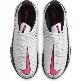Buty piłkarskie Nike Jr Phantom Gt Academy Tf CK8484 160 białe białe 1