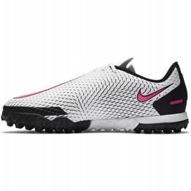 Buty piłkarskie Nike Jr Phantom Gt Academy Tf CK8484 160 białe białe 2