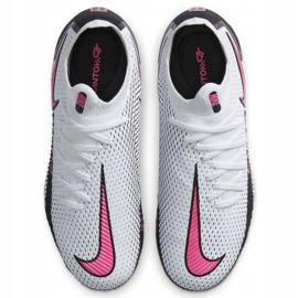 Buty piłkarskie Nike Phantom Gt Pro Fg Junior CK8473 160 białe białe 3