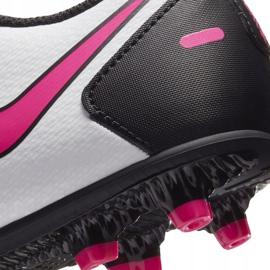 Buty piłkarskie Nike Jr Phantom Gt Club FG/MG CK8479 160 białe wielokolorowe 7