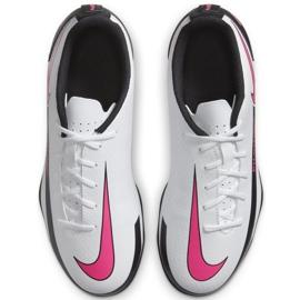 Buty piłkarskie Nike Jr Phantom Gt Club FG/MG CK8479 160 białe wielokolorowe 1