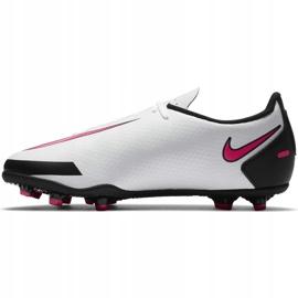 Buty piłkarskie Nike Jr Phantom Gt Club FG/MG CK8479 160 białe wielokolorowe 2