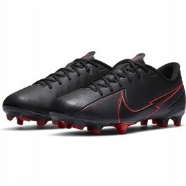 Buty piłkarskie Nike Mercurial Vapor 13 Academy FG/MG Junior AT8123 060 czarne czarne 3