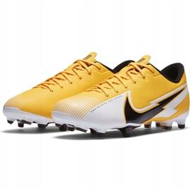 Buty piłkarskie Nike Mercurial Vapor 13 Academy FG/MG Junior AT8123 801 pomarańczowe żółte 3