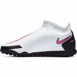 Buty piłkarskie Nike Phantom Gt Club Df Tf Junior CW6729 160 białe białe 2