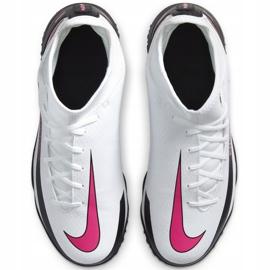 Buty piłkarskie Nike Phantom Gt Club Df Tf Junior CW6729 160 białe białe 1