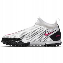Buty piłkarskie Nike Phantom Gt Academy Df Tf Junior CW6695 160 białe białe 2