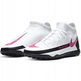 Buty piłkarskie Nike Phantom Gt Club Df Tf Junior CW6729 160 białe białe 3
