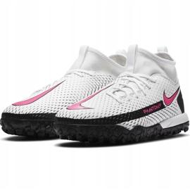 Buty piłkarskie Nike Phantom Gt Academy Df Tf Junior CW6695 160 białe białe 3