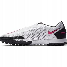 Buty piłkarskie Nike Phantom Gt Academy Tf CK8470 160 białe białe 2