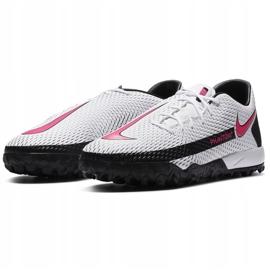 Buty piłkarskie Nike Phantom Gt Academy Tf CK8470 160 białe białe 3