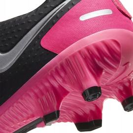 Buty piłkarskie Nike Phantom Gt Academy FG/MG CK8460 006 czarny,różowy czarne 6