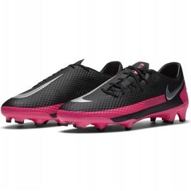 Buty piłkarskie Nike Phantom Gt Academy FG/MG CK8460 006 czarny,różowy czarne 3