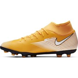 Buty piłkarskie Nike Mercurial Superfly 7 Club FG/MG AT7949 801 pomarańczowe żółte 2