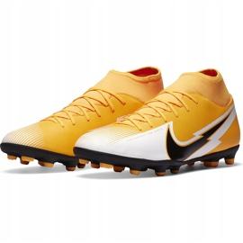 Buty piłkarskie Nike Mercurial Superfly 7 Club FG/MG AT7949 801 pomarańczowe żółte 3