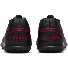 Buty piłkarskie Nike Tiempo Legend 8 Club Tf Junior AT5883 060 czarny,czerwony czarne 4