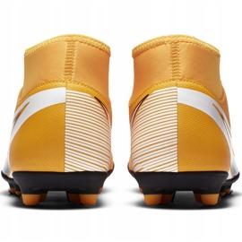 Buty piłkarskie Nike Mercurial Superfly 7 Club FG/MG AT7949 801 pomarańczowe żółte 4