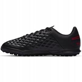 Buty piłkarskie Nike Tiempo Legend 8 Club Tf Junior AT5883 060 czarny,czerwony czarne 2