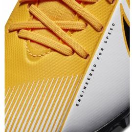 Buty piłkarskie Nike Mercurial Superfly 7 Academy Tf Junior AT8143 801 żółte pomarańczowe 5