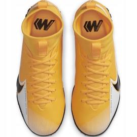 Buty piłkarskie Nike Mercurial Superfly 7 Academy Tf Junior AT8143 801 żółte pomarańczowe 1
