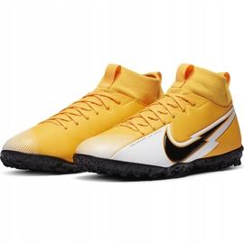 Buty piłkarskie Nike Mercurial Superfly 7 Academy Tf Junior AT8143 801 żółte pomarańczowe 3