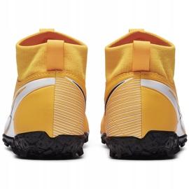 Buty piłkarskie Nike Mercurial Superfly 7 Academy Tf Junior AT8143 801 żółte pomarańczowe 4