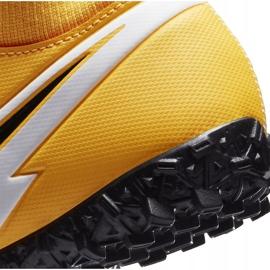 Buty piłkarskie Nike Mercurial Superfly 7 Academy Tf Junior AT8143 801 żółte pomarańczowe 6