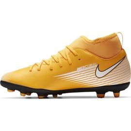Buty piłkarskie Nike Mercurial Superfly 7 Club FG/MG Junior AT8150 801 żółte pomarańczowe 2