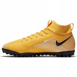 Buty piłkarskie Nike Mercurial Superfly 7 Academy Tf Junior AT8143 801 żółte pomarańczowe 2