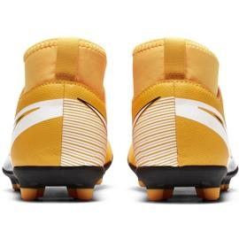 Buty piłkarskie Nike Mercurial Superfly 7 Club FG/MG Junior AT8150 801 żółte pomarańczowe 4