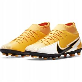 Buty piłkarskie Nike Mercurial Superfly 7 Club FG/MG Junior AT8150 801 żółte pomarańczowe 3