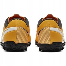 Buty piłkarskie Nike Mercurial Vapor 13 Academy Tf Junior AT8145 801 żółte pomarańczowe 3