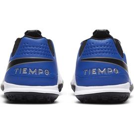 Buty piłkarskie Nike Tiempo Legend 8 Academy Tf Junior AT5736 104 niebieskie białe 4