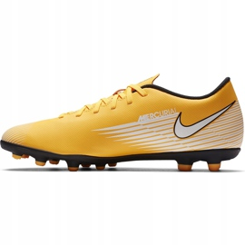 Buty piłkarskie Nike Mercurial Vapor 13 Club FG/MG AT7968 801 pomarańczowe żółte 2