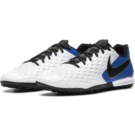 Buty piłkarskie Nike Tiempo Legend 8 Academy Tf AT6100 104 niebieskie białe 3