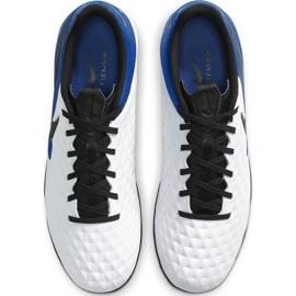 Buty piłkarskie Nike Tiempo Legend 8 Academy Tf AT6100 104 niebieskie białe 1