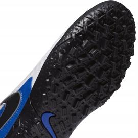 Buty piłkarskie Nike Tiempo Legend 8 Club Tf Junior AT5883 104 białe niebieskie 7