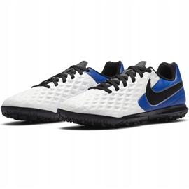 Buty piłkarskie Nike Tiempo Legend 8 Club Tf Junior AT5883 104 białe niebieskie 3