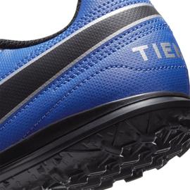 Buty piłkarskie Nike Tiempo Legend 8 Club Tf Junior AT5883 104 białe niebieskie 6