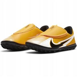 Buty piłkarskie Nike Mercurial Vapor 13 Club Tf PS(V) Junior AT8178 801 pomarańczowy, zółty żółte 4