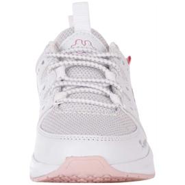 Buty dla dzieci Kappa Loretto K biało-różowe 260791K 1022 białe 3