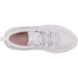 Buty dla dzieci Kappa Loretto K biało-różowe 260791K 1022 2