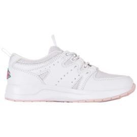 Buty dla dzieci Kappa Loretto K biało-różowe 260791K 1022 białe 1