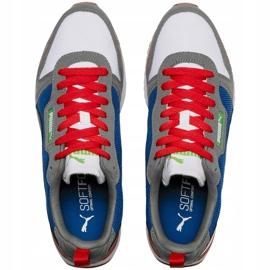 Buty męskie Puma R78 biało-niebiesko-czerwono-czarne 373117 10 białe czerwone granatowe szare 2