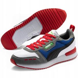 Buty męskie Puma R78 biało-niebiesko-czerwono-czarne 373117 10 białe czerwone granatowe szare 3