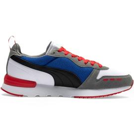 Buty męskie Puma R78 biało-niebiesko-czerwono-czarne 373117 10 białe czerwone granatowe szare 1
