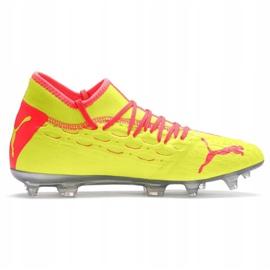 Buty piłkarskie Puma Future 5.2 Netfit Osg Evo Fg Ag 106007 01 żółte czerwone 1