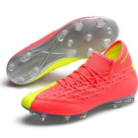 Buty piłkarskie Puma Future 5.2 Netfit Osg Evo Fg Ag 106007 01 żółte czerwone 2