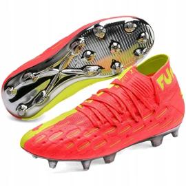 Buty piłkarskie dla dzieci Puma Future 5.1 Netfit Osg Fg Ag Junior 105946 01 czerwone żółte 3